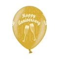 Luftballons Happy Anniverary Gold,